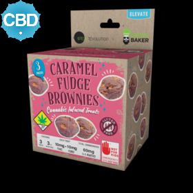 CBD 1:1 Caramel Fudge Brownies