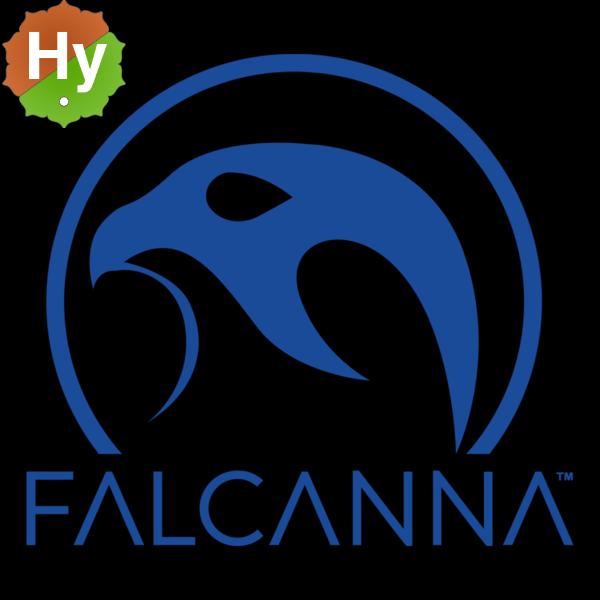 Falcanna black logo