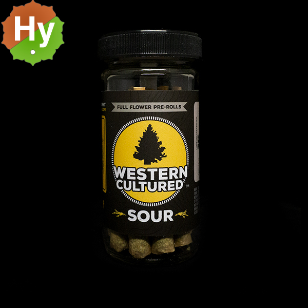 Western cultured 7g pre roll jar sour