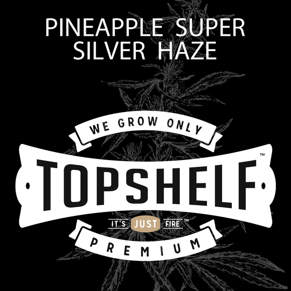 Top shelf 4pack pre rolls pineapple super silver haze
