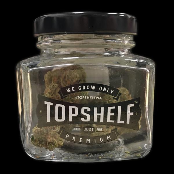 Top shelf 3 5 gram glass jar 1