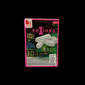 20mg THC + CBD Potionz Capsules (10 Pack 10mg THC + 10mg CBD each)