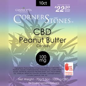Peanut Butter CBD Corner Stones Candies