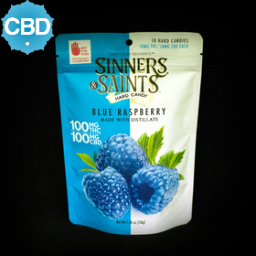 Blue Raspberry CBD Sinners & Saints Hard Candies