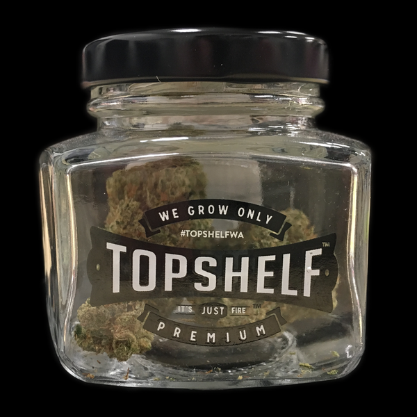 Top shelf 3 5 gram glass jar 1