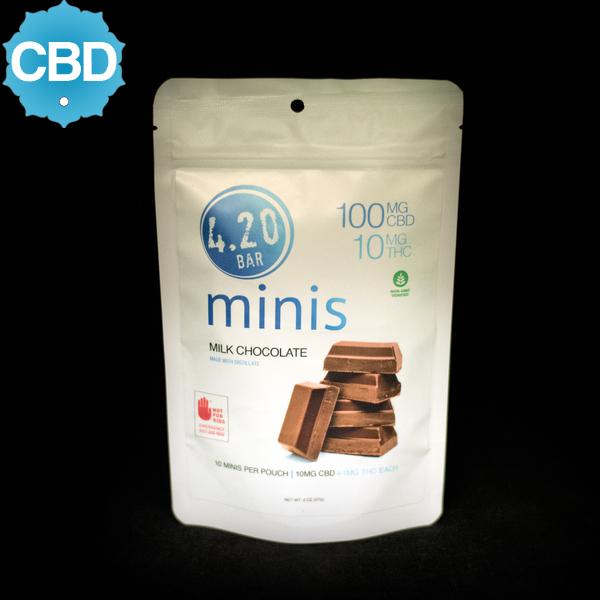 4.20 milk chocolate minis 10 1 cbd thc