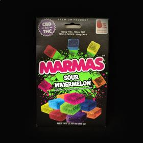 CBD:THC Sour Watermelon Marmas