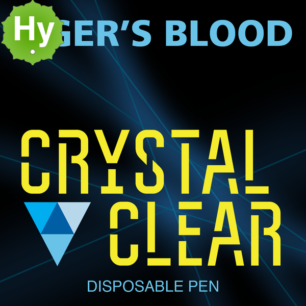 Crystal clear disposable pen tigers blood