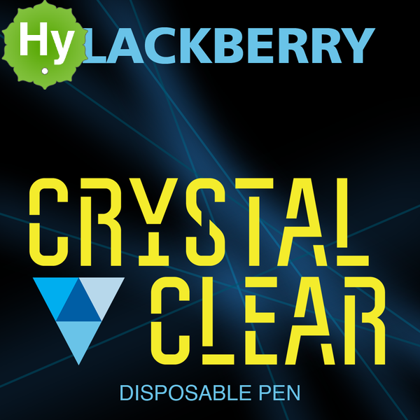 Crystal clear disposable pen blackberry