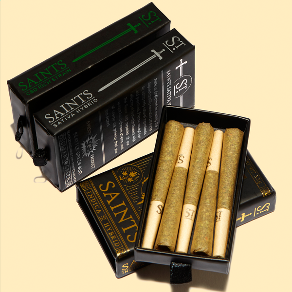 Sgb saints pre roll joints pkg 1