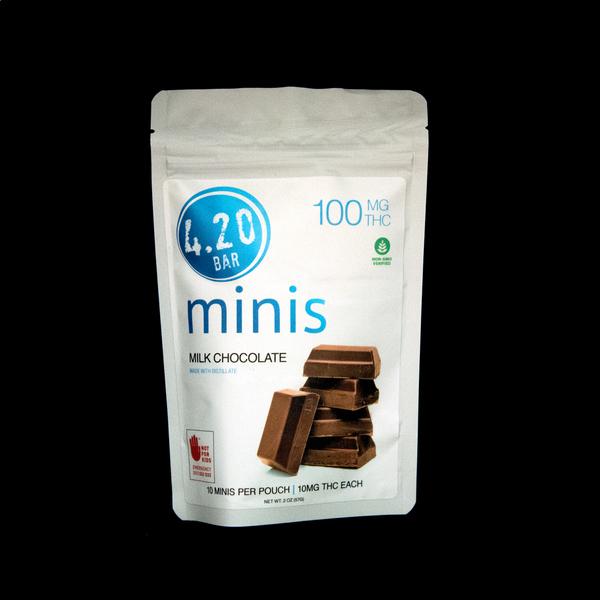 420 bar  thc milk chocolate minis