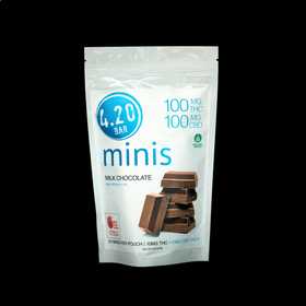 4.20 Milk Chocolate CBD Minis 1:1 THC/CBD