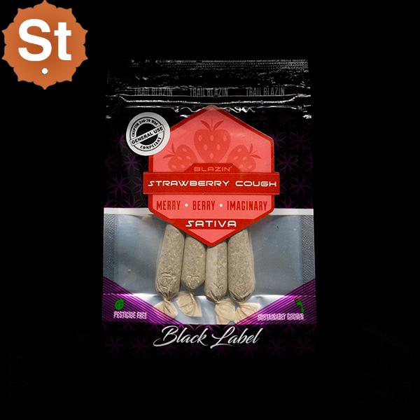 Trail blazin strawberry cough pre roll 4pk